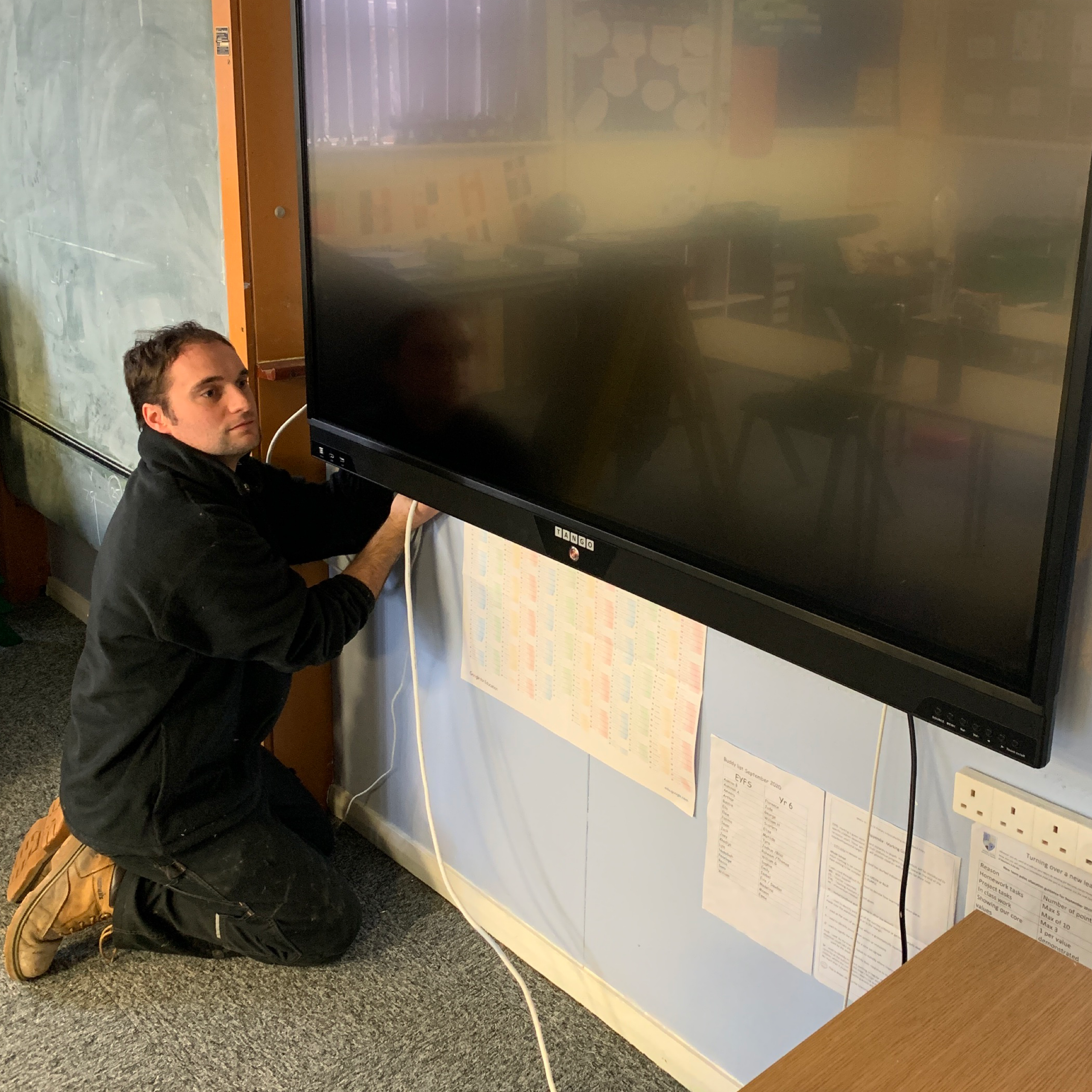 Bowland roll out new state of the art touchscreens to Lancashire County Council schools.