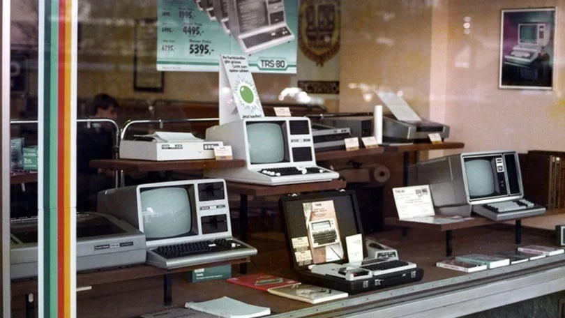 What did computer shops look like in the 70s?
